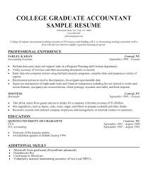 Recent Graduate Resume Example Template For College Grad Sample