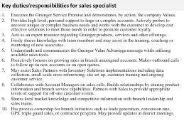 Personnel Specialist Job Description Sales Specialist Job Description