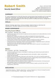Security Guard Resume Examples Security Guard Resume Samples Qwikresume