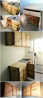 Pallet Kitchen Furniture Wood Pallet Recycled Kitchen Cabinets Pallet Ideas