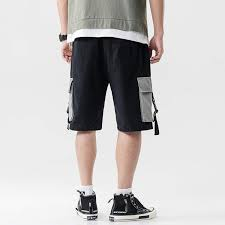 Mens Designer Cargo Shorts Sale Mokewen Mens Buckle Straps Techwear Jogger Cargo Shorts With Drawstring Pocket