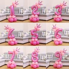 <b>QIFU</b> 17Pcs Number Air Baloon <b>Birthday Balloons Birthday Party</b> ...