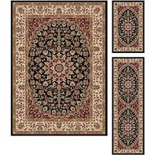 3 piece set gray blue gold and red area rug elegance rc willey furniture