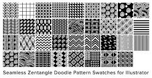 Zentangle Patterns Extraordinary Free Illustrator Seamless Swatches Doodle Pattern Zentangle