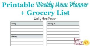 Bi Weekly Meal Planner Template Bi Weekly Menu Planner Template Free Printable Planners Puntogov Co