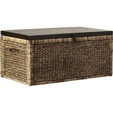 faux leather coffee table outdoor wicker storage coffee table small rattan table