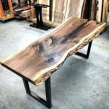 wood slab coffee table red legs diy simple with metal
