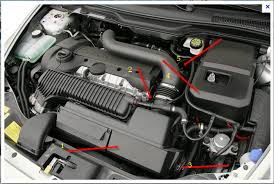 where is the thermostat located on a 2006 volvo s40 t5 awd attached image
