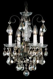 new orleans 4 light 110v chandelier in antique silver with clear heritage crystal