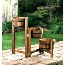 outdoor plant stands for multiple plants outdoor plant stands for multiple plants wood whiskey wine barrel