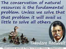 "conservation quotes quotes on conservation science quotes  theodore roosevelt quote ""the conservation of natural resources is the fundamental problem"" ducks"