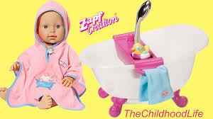 baby annabell bath set baby born interactive bathtub unboxing play you