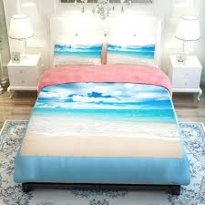 sunset ocean blue sea sandy beach lake scenic bedding sets twin queen king size flat sheets