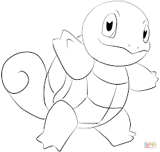 Small Picture Squirtle coloring page Free Printable Coloring Pages