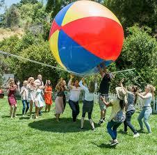 Beach ball on beach Popping Previous Next Bigmouth Inc Gigantic 10 Foot Inflatable Beach Ball Bigmouth Inc