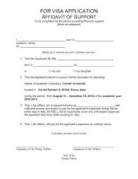 Affidavit Of Support Letter Adorable Sample Affidavit Of Support Letter For Student Visa Visorgedeco