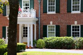 pics for victorian house with shutters red brick house black door cream trim