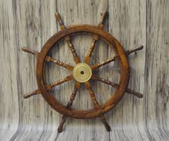 wooden nautical ship steering wheel pirate wall decor wood fishing