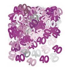 Confettis de table roses 40 ans (14g) - Achat / Vente confettis ...