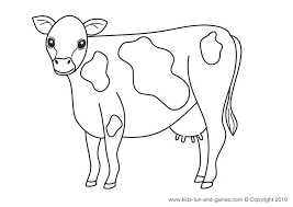 26+ Cute Coloring Pages Cow Pics