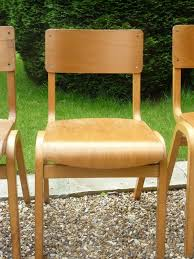 vintage stacking wooden school chapel tecta cafe bar chairs