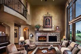 Living Room Decor With Fireplace Living Room Spanish Style Design Homesfeed