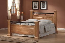 image of king size wooden headboard and footboard