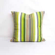 indoor outdoor sunbrella carousel limelite 20x18 vertical stripes throw pillow quick ship