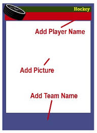 free trading card template hockey card templates free blank printable customize