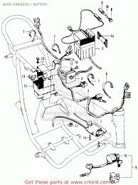 Honda sl70 motosport 1971 k0 usa wire harness battery buy wire wiring diagrams