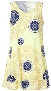 Lookatool Llc Womens Plus Size Print Midi Dress Loose Shift