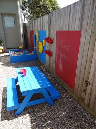 Amazing and frugal outdoor play space (and they have limited space) Great  ideas!