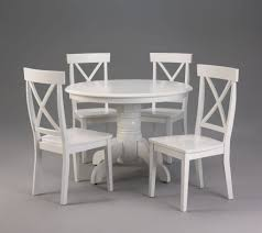 white round pedestal dining table. Fetching White Wood Dining Table And Chairs With 36 Inch Round Pedestal 4 High D