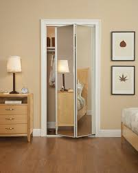 Interior:Outstanding Mirrored Closet Doors Sliding For Bedroom With Cream  Wall Paint And Wooden Flooring