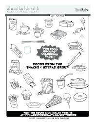 Food Groups Coloring Pages Food Group Coloring Pages Free Groups ...