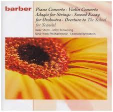 samuel barber piano concerto violin concerto adagio for strings samuel barber piano concerto violin concerto adagio for strings second essay for