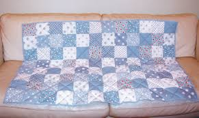 Make A Patchwork Quilt – The Easy Way | Turquoise Textiles & Baby blue patchwork quilt Adamdwight.com