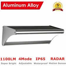 sun 60led solar lights outdoor aluminum alloy wireless motion sensor solar lights with wide lighting