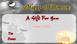 Halloween Gift Cards Halloween Gift Card