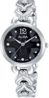 alba stainless steel dress watch for women ah8437x silver