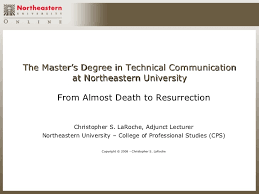 The Masters Degree In Technical Communication At