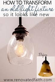light fixture makeovers diy light