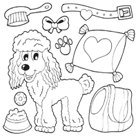 Small Picture Dog Breed Coloring Pages Surfnetkids