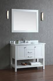 single sink bathroom vanity set with mirror white 8230 bayhill 42
