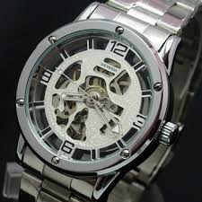 cheap men automatic watch men automatic watch deals on line get quotations · shippinggenuine men s watch automatic mechanical watches retro casual chain hollow steel band watches men mechanical