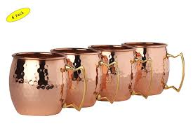 copper mug gift set for vodka drinker