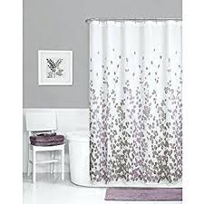 grey shower curtains com curtain fabric mildew resistant basic black white and