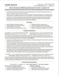 Teacher Resume Sample Monster Best Special Education Teacher Resume