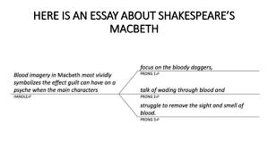 macbeth essay topics macbeth ambition essay guilt essay macbeth essay questions