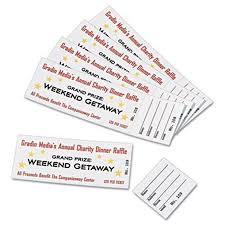 Avery Event Tickets Avery 16154 Tickets With Tear Away Stubs 1 75 X 5 5 Matte White 200 Tickets